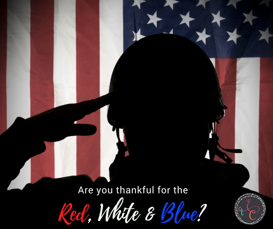 Are you thankful for the Red, White, and Blue?