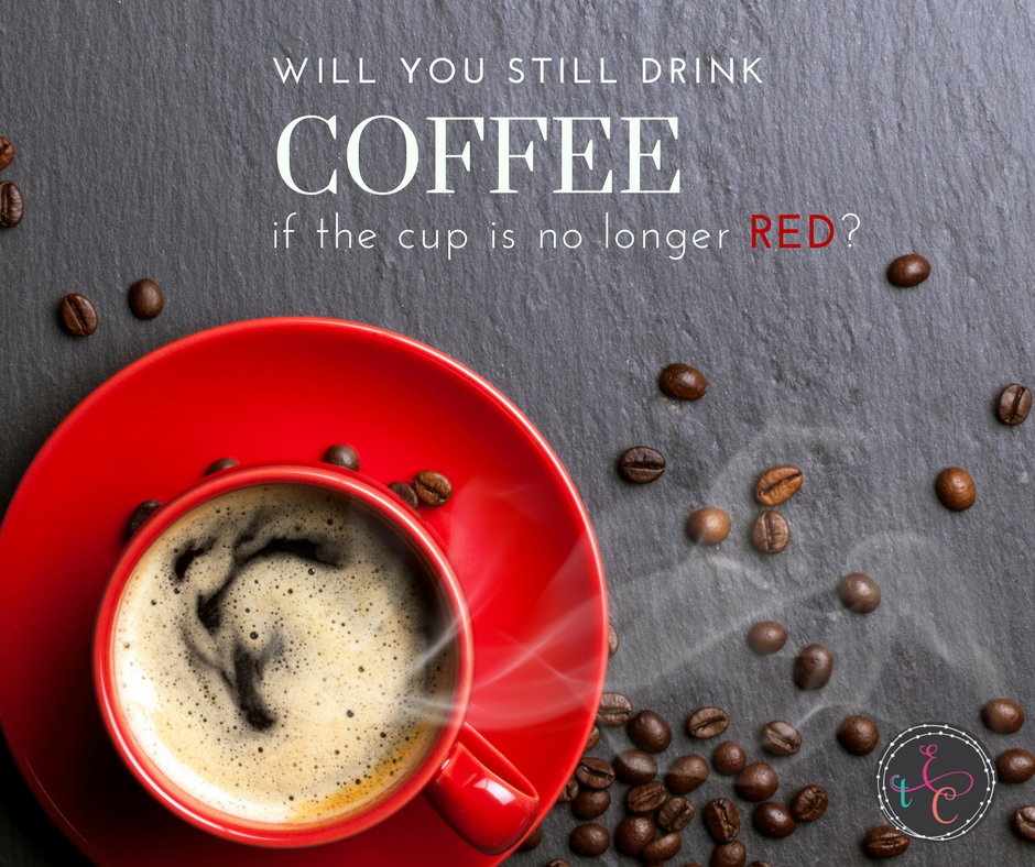 Coffee tastes the same no matter what the cup looks like on the outside. So why do we change who we are depending on the company surrounding us?