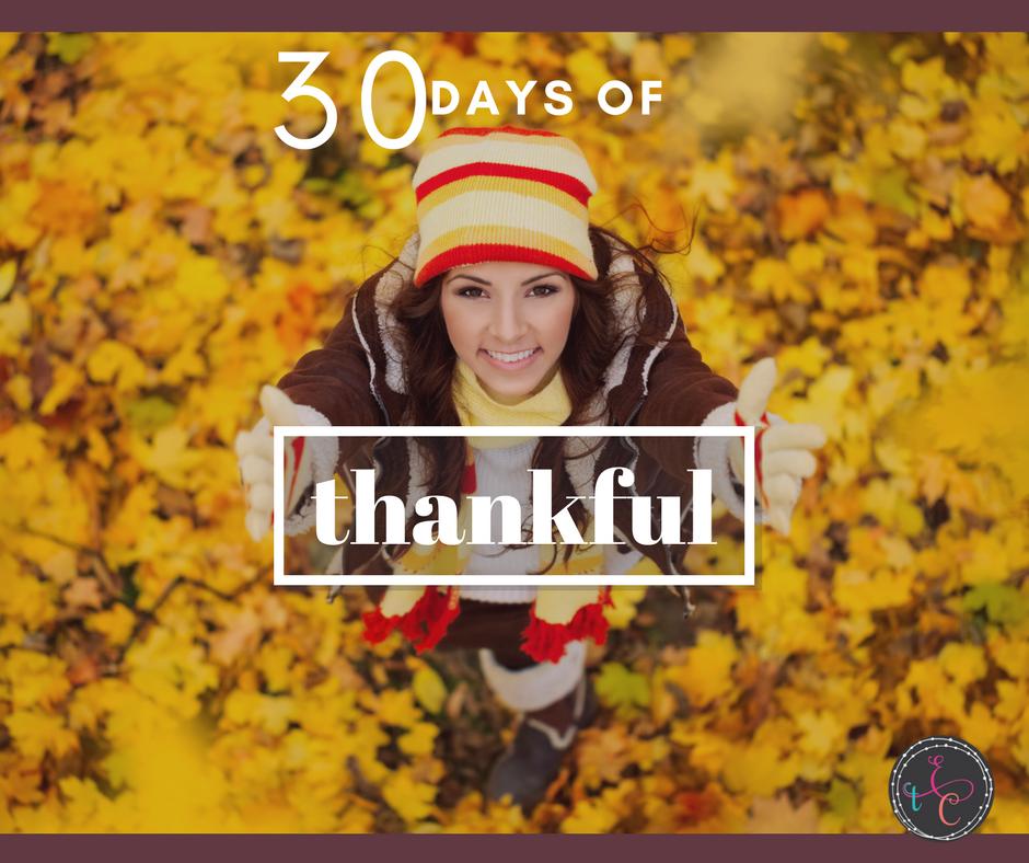 30 Days of Thankful