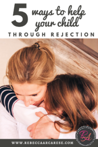 "Rejection is hard.  No one relishes the term ""trial by fire"".  Especially when you see your child burn up in the flame of rejection."