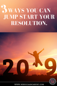 Whatever your big resolution is each year.....does it seem harder and more discouraging?Here are 3 ways we are going to jump start that resolution.