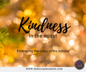 How about this week our kindness challenge takes us outside of our own stuff.  What if we take this week and create an intentional daily kindness act.