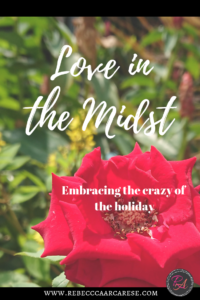 "If I was going to title my own Hallmark movie, it would be ""Let There Be Peace and Love in the Midst of the Crazy"". Do you have a magical childhood memory?"