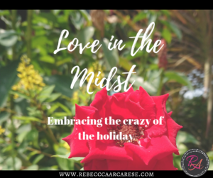 """If I was going to title my own Hallmark movie, it would be """"Let There Be Peace and Love in the Midst of the Crazy"""". Do you have a magical childhood memory?"""